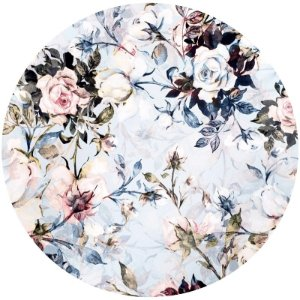 Kit 4 Capas para Sousplat Floral Vintage Azul da Charlô 35cmx35cm