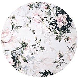 Kit 4 Capas para Sousplat Floral Vintage Rosa da Charlô 35cmx35cm