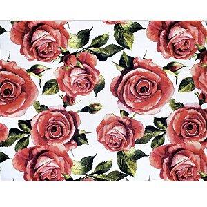 Kit 4 Jogos Americanos Rosas Vermelhas da Charlô 43cmx34cm