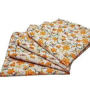 Guardanapo de Tecido Floral Laranjeiras da Charlô 32cmx32cm - 4 unidades