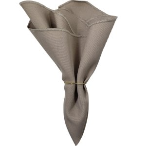 Guardanapo de Tecido Oxford Overloque Bege Fendi 40cmx40cm - 4 unds