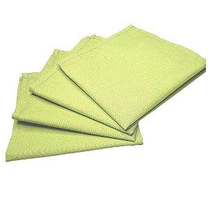 Guardanapo de Tecido Verde Limão 32cmx32cm - 4 unidades