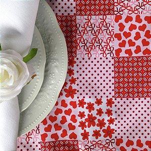 Kit Duo Jogo Americano Renda Paris Rouge Floral - 2 unds
