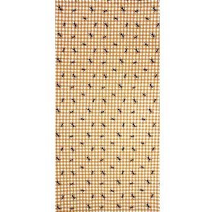 Trilho de Mesa Xadrez Laranja Formiga 44cmx1,50cm