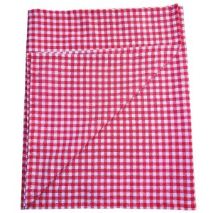 Trilho de Mesa Xadrez Vermelho Branco 45cmx1,50cm