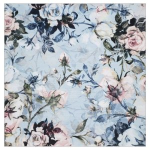 Kit 4 Guardanapos de Tecido Floral Vintage Azul da Charlô 40cmx40cm