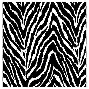 Kit 4 Guardanapos de Tecido Zebra da Charlô 40cmx40cm
