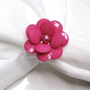 Kit 20 Porta Guardanapo Flor Delicada da Charlô (Pink)