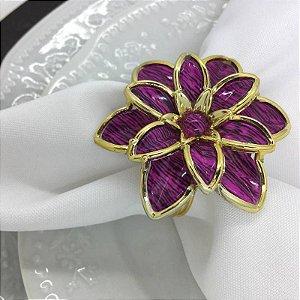 Kit 20 Porta Guardanapo Botão Crisântemo Flor da Tailândia Pink