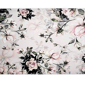 Kit 4 Jogos Americanos Floral Vintage Rosa da Charlô 43cmx34cm