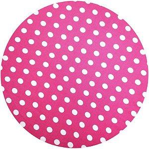 Kit 4 Capas para Sousplat Poá Pink 35cmx35cm