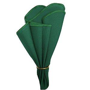 Guardanapo de Tecido Oxford Overloque Verde Bandeira 40cmx40cm - 4 unds