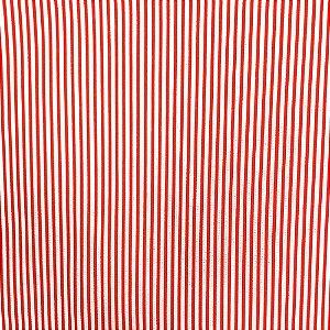 Kit 4 Guardanapos de Tecido Algodão Listrado Vermelho 39cmx39cm
