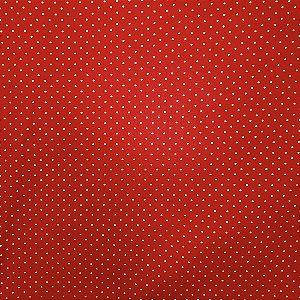 Kit 4 Guardanapos de Tecido Algodão Vermelho Poá Dourado 39cmx39cm