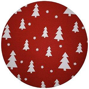 Kit 4 Capas para Sousplat Árvore de Natal 35cmx35cm