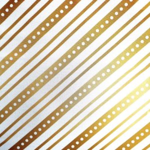 Kit 4 Guardanapos de Tecido Listrado Natal Dourado 40cmx40cm