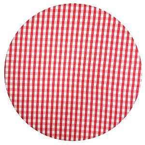 Kit 4 Capas para Sousplat Xadrez Vermelho Branco 35cmx35cm