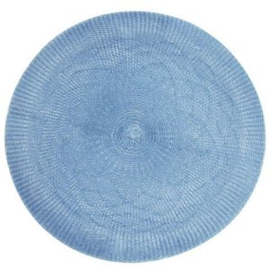 Kit 4 Sousplats YOI Crochê Azul 38cmx38cm
