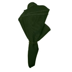 Kit  4 Guardanapo de Tecido Oxford Overloque Verde Exercito 40cmx40cm