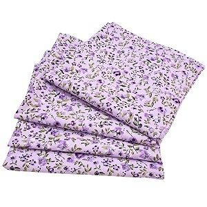 Kit 4 Guardanapos de Tecido Floral Lis Algodão 39cmx39cm