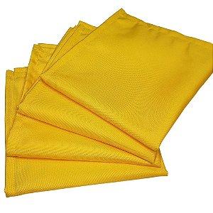 Kit 4 Guardanapos de Tecido Oxford Amarelo 40cmx40cm