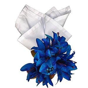Box 32 Porta Guardanapos Lírios da Charlô Azul Royal