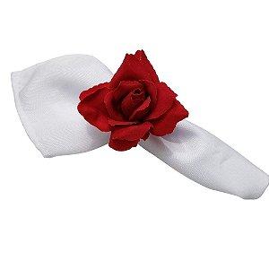 Box 24 Porta Guardanapos Botão de Rosa Colombiana Vermelho Aveludada
