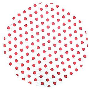 KIT 20 Capas Sousplat Poá Branco Vermelho 35cmx35cm
