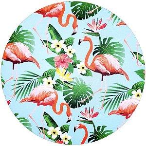 Kit 4 Capas para Sousplat Flamingo e Costela Adão 35cmx35cm