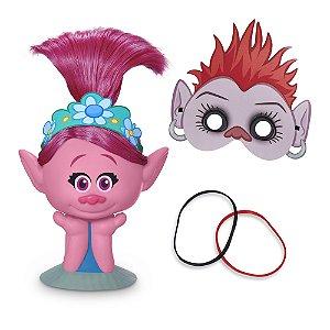 Kit Busto Poppy E Máscara Barb - Dreamworks Trolls