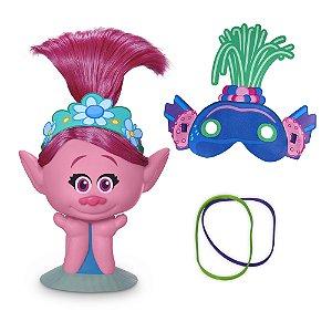 Kit Busto Poppy E Máscara Trollex - Dreamworks Trolls