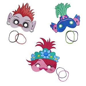 Kit 3 Máscaras Com Pulseiras - Dreamworks Trolls