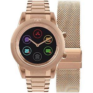 Relógio Technos Connect Duo Rosê