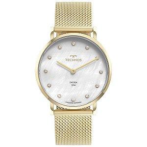 Relógio Technos Dourado Mostrador Madrepérola