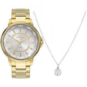 Relógio Technos Dourado Kit