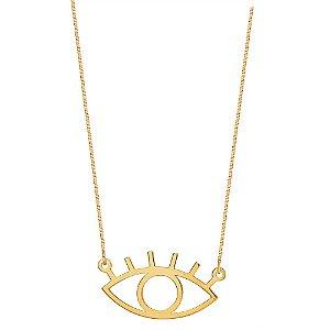 Gargantilha Ouro Olho Grego Vazado