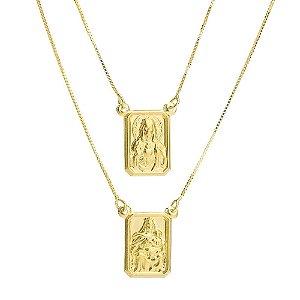 Gargantilha de Ouro Escapulário Veneziana