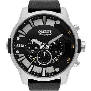 Relógio Orient Pulseira Couro Preto