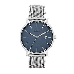 Relógio Skagen Prata Mostrador Azul