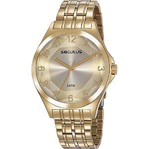 Relógio Seculus Dourado