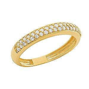 Anel Ouro Aparador 36 Diamantes