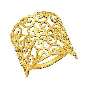 Anel Ouro Arabesco