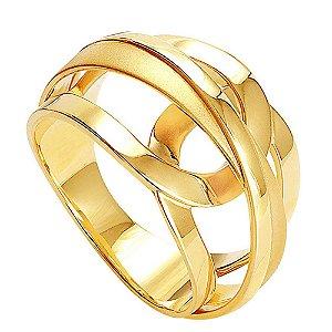Anel Ouro Aro Fosco E Polido