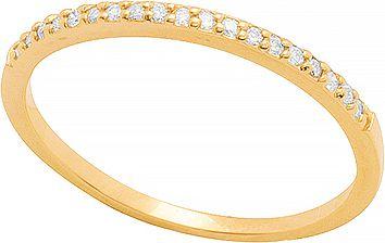 Anel Ouro Meia 19 Brilhantes 0.5 Ptos