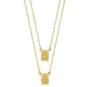 Gargantilha Ouro Escapulário Cartier