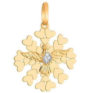 Pingente Ouro Divino com Diamante