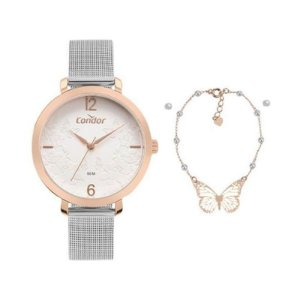 Relógio Condor Prata Kit