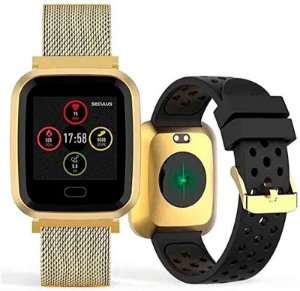 Relógio Seculus Smartwatch Quadrado Dourado