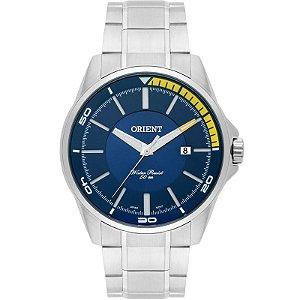 Relógio Orient Prateado Mostrador Azul