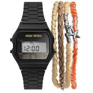 Relógio Mormaii Vintage Preto